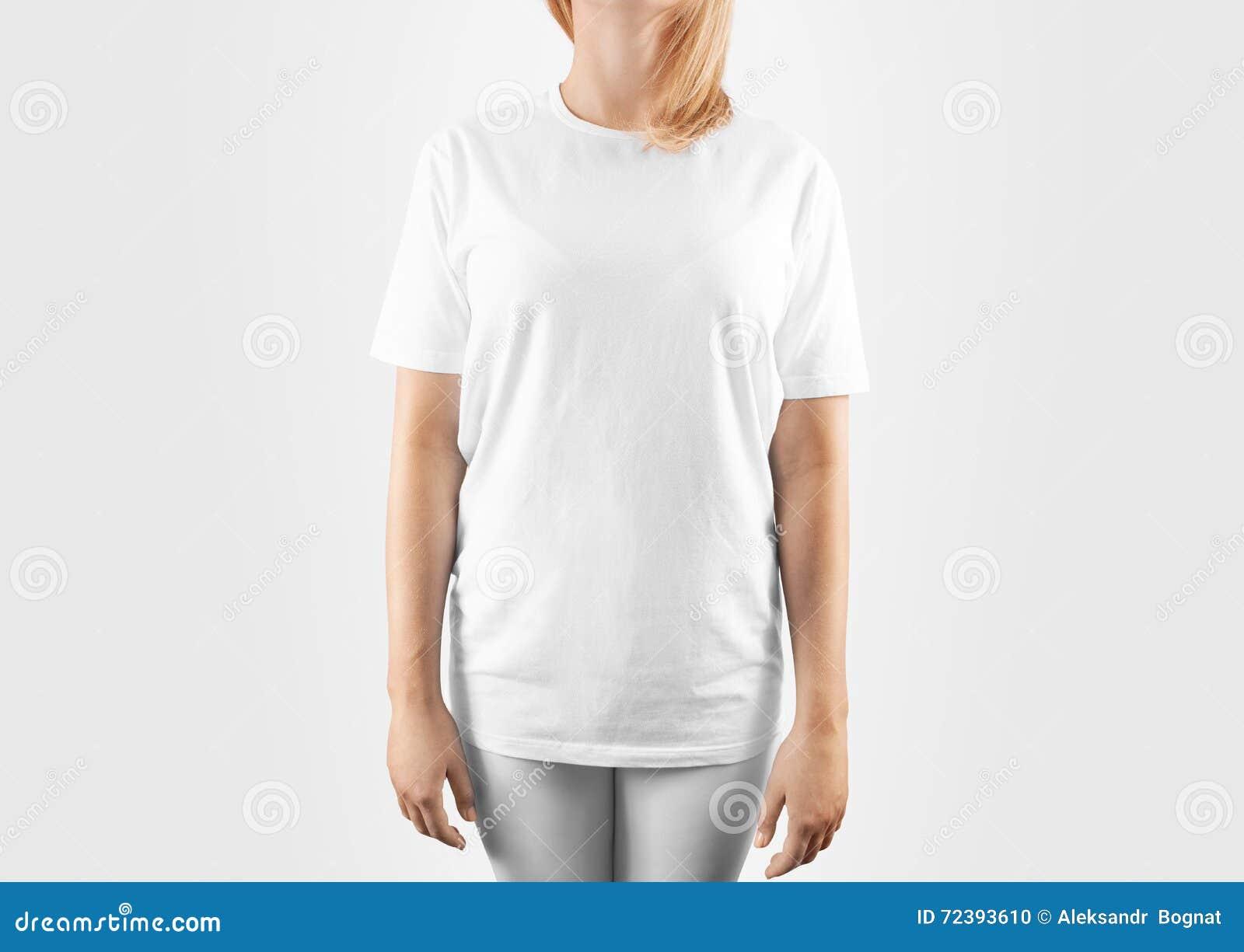 Pusty biały koszulka projekta mockup, ścinek ścieżka
