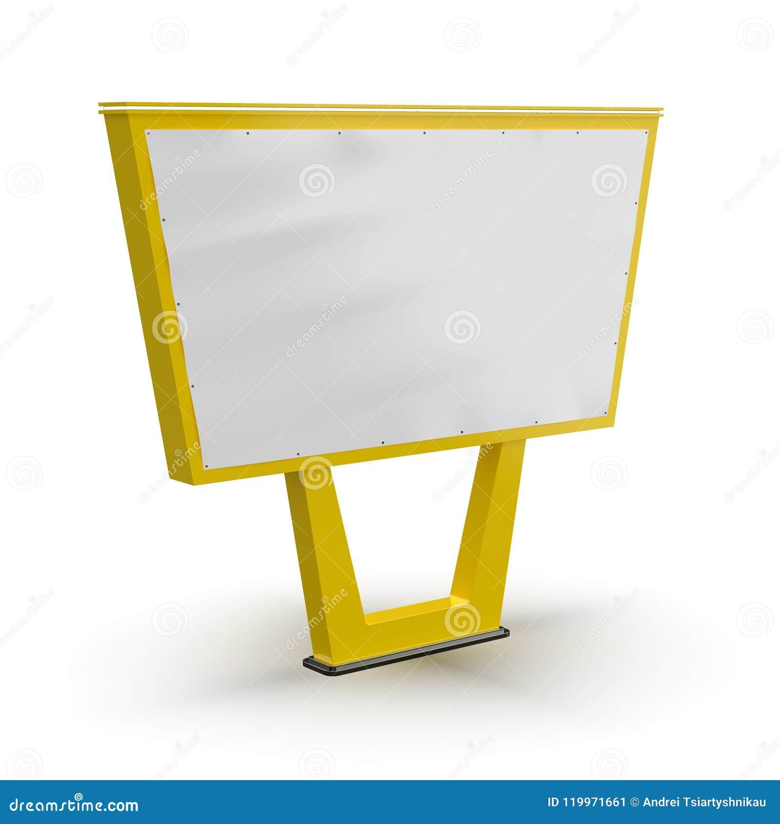 Pusty bigboard Uliczna reklama Reklamować na poczta projekcie billboard Uliczny billboard