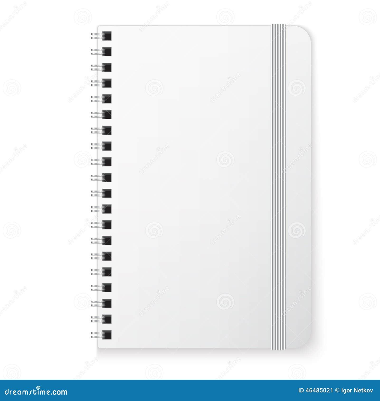 Pusty copybook szablon
