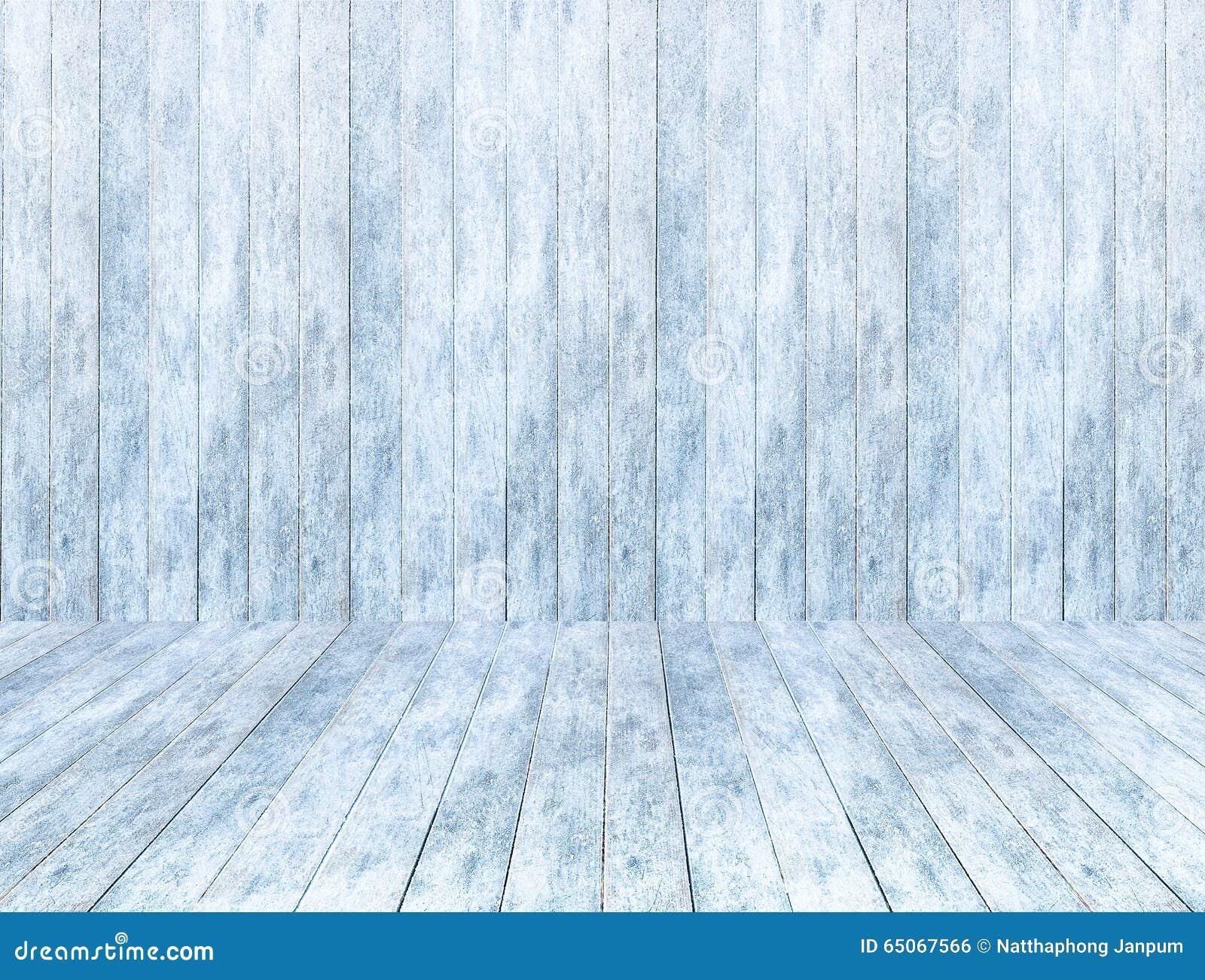 Pusty drewniany lodowy panelu tło, drewniana lodowa podłoga i stół z śniegiem