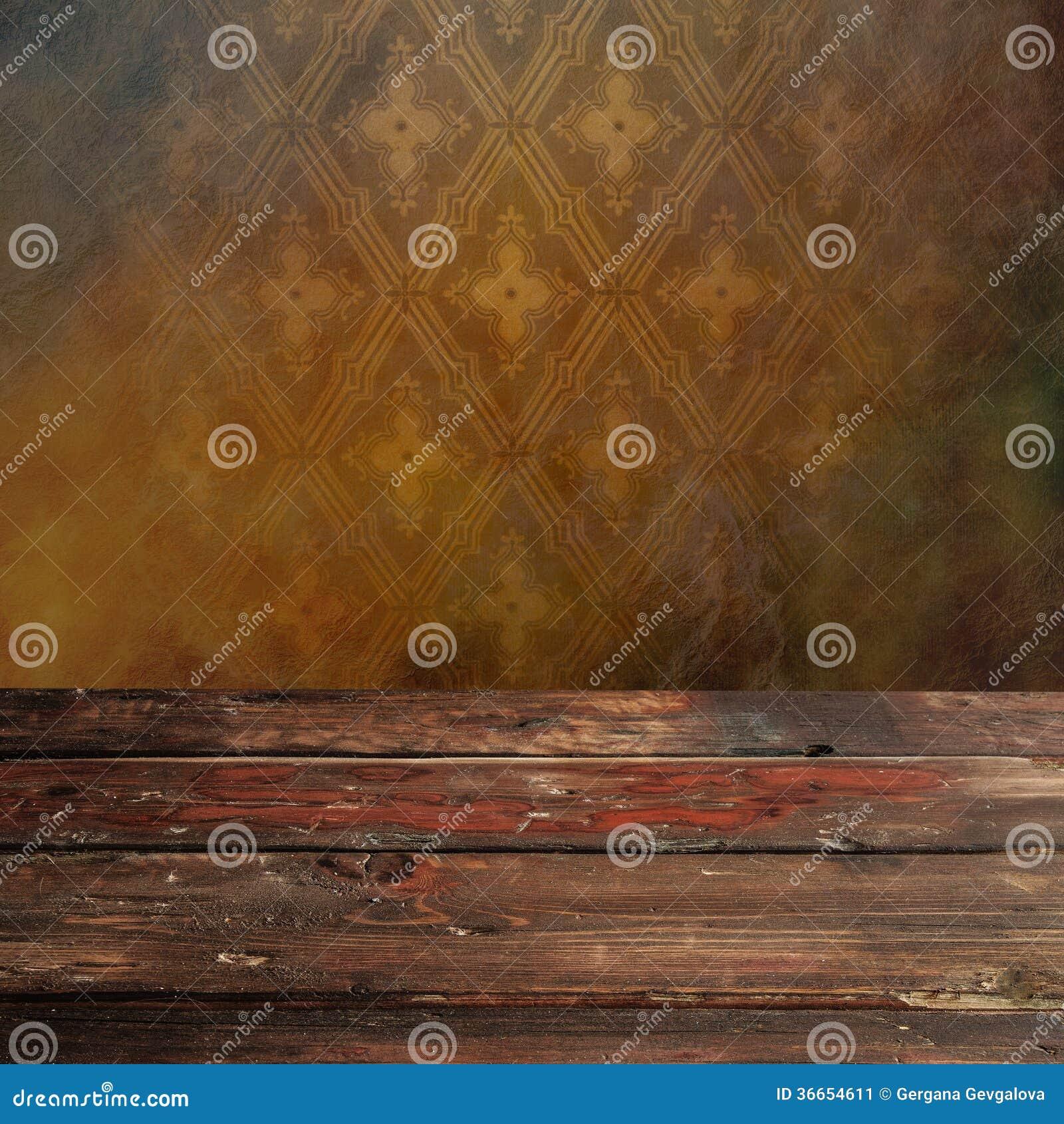 Pusty drewniany stół