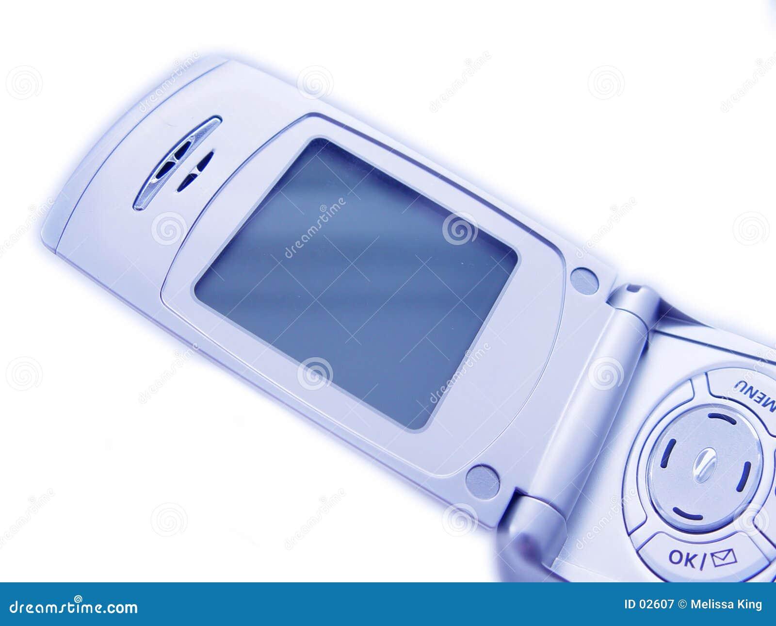 Pusty ekran komórkowego telefonu