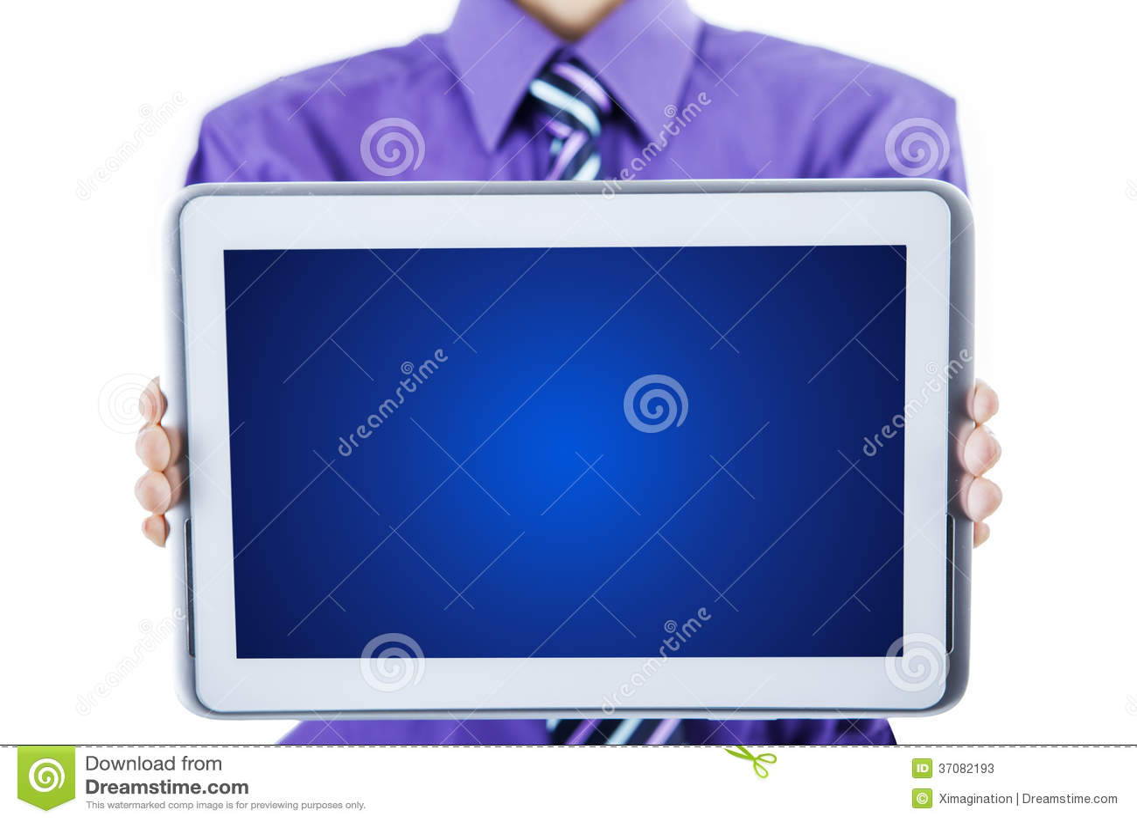 Download Pusty Ekran Na Pastylka Komputerze Obraz Stock - Obraz złożonej z biznesmen, komputer: 37082193