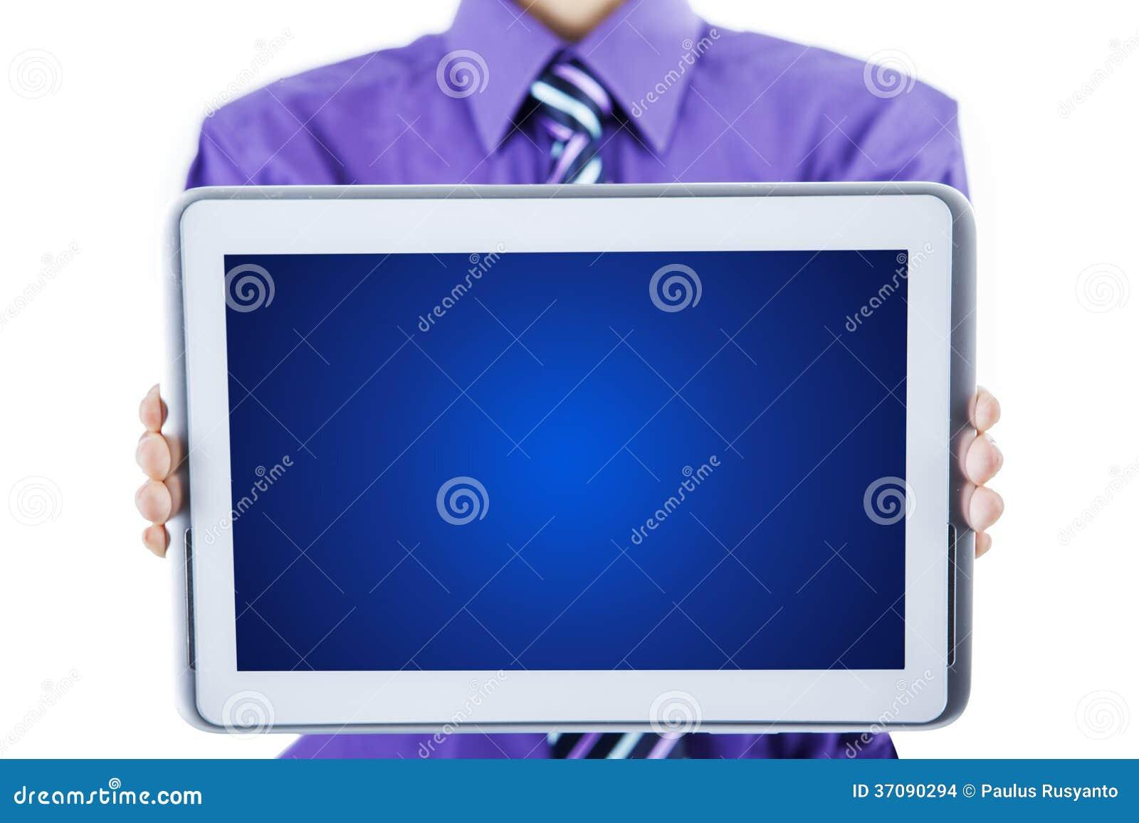 Download Pusty Ekran Na Pastylka Komputerze Zdjęcie Stock - Obraz złożonej z digitalis, chwyt: 37090294