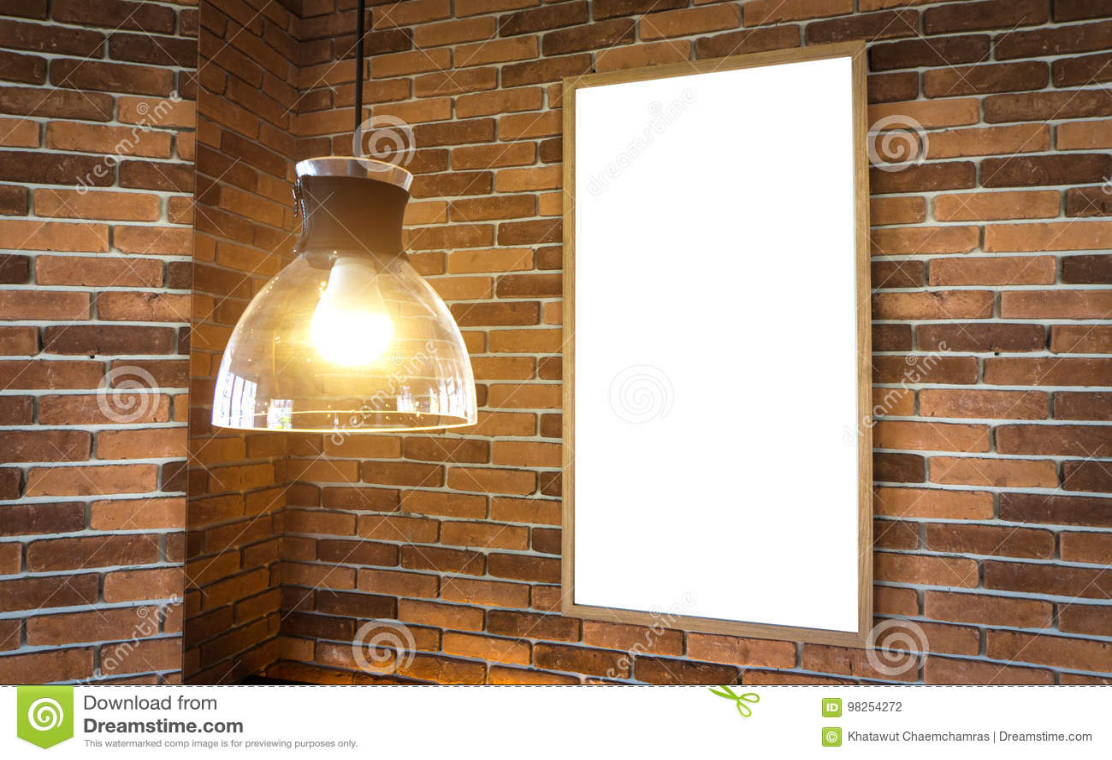 Pusty fotografii ramy mockup szablon na blok ścianie