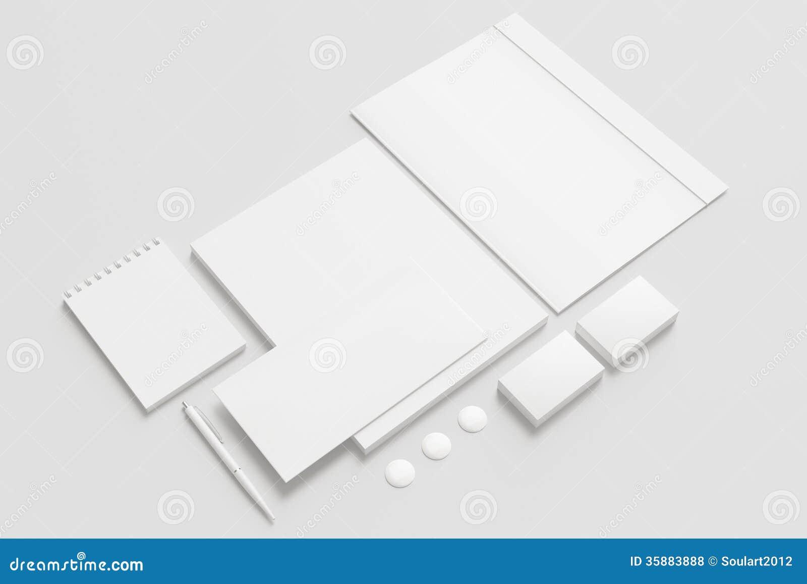 Pusty materiały, Korporacyjny ID set/
