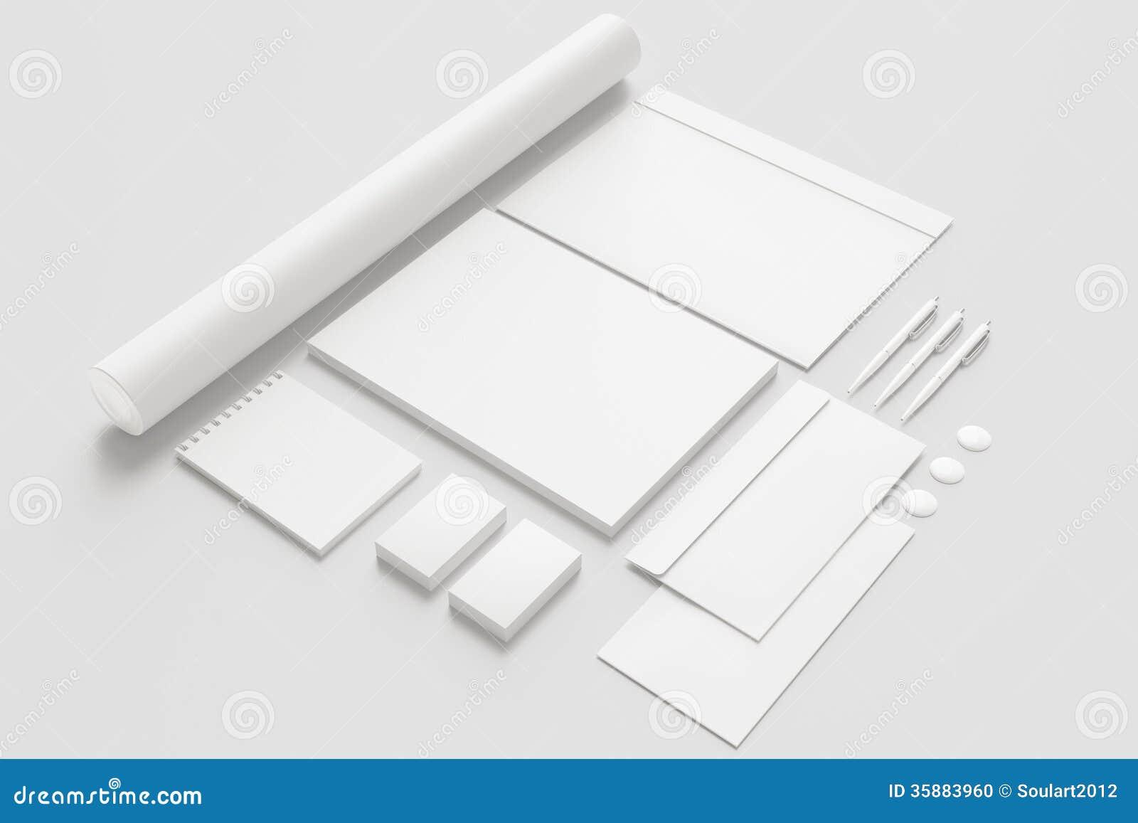 Pusty materiały, Korporacyjny ID/Ustawiamy odosobnionego na bielu