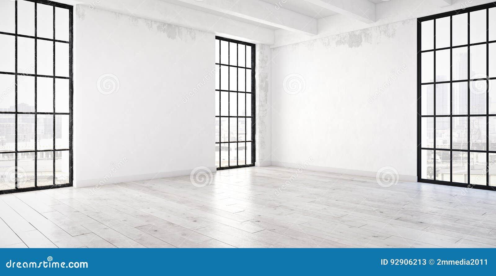 Pusty mieszkania loft świadczenia 3 d