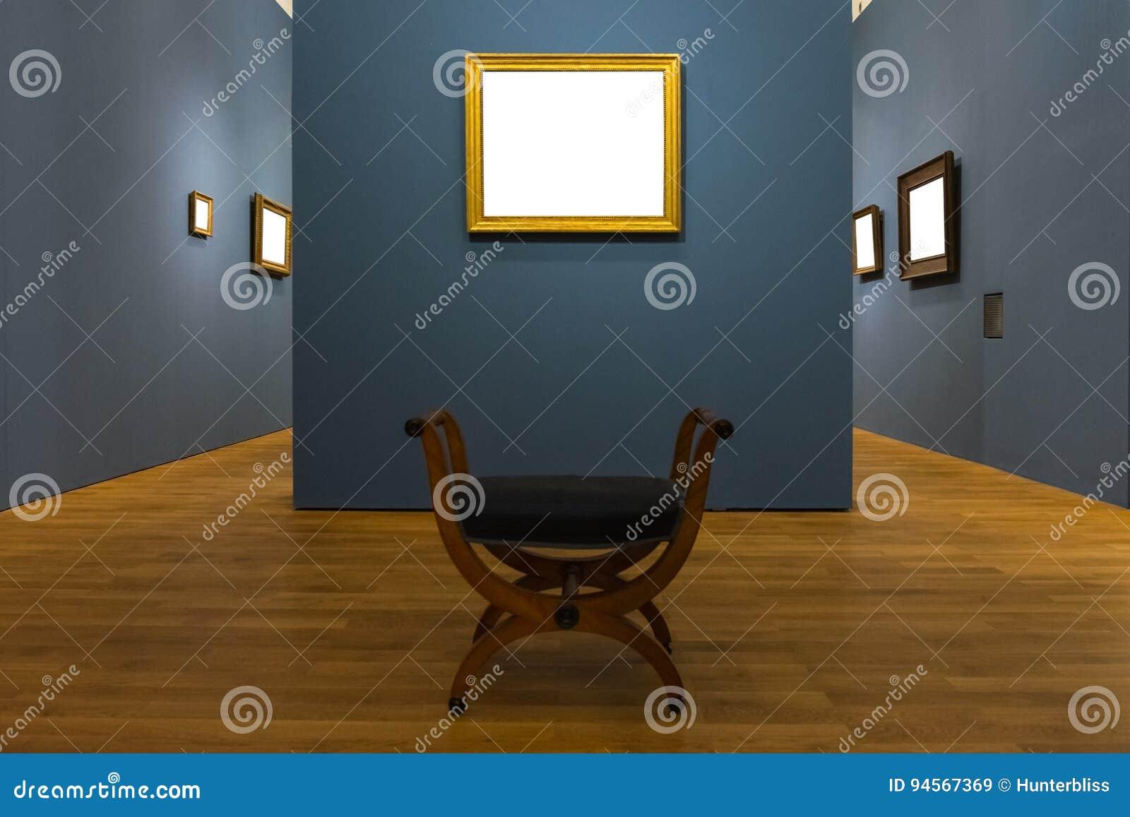 Pusty muzeum sztuki Odizolowywająca obraz ramy dekoracja Indoors Izoluje