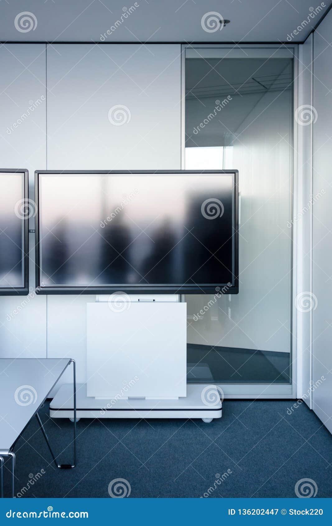 Pusty nowożytny wideokonferencja pokój