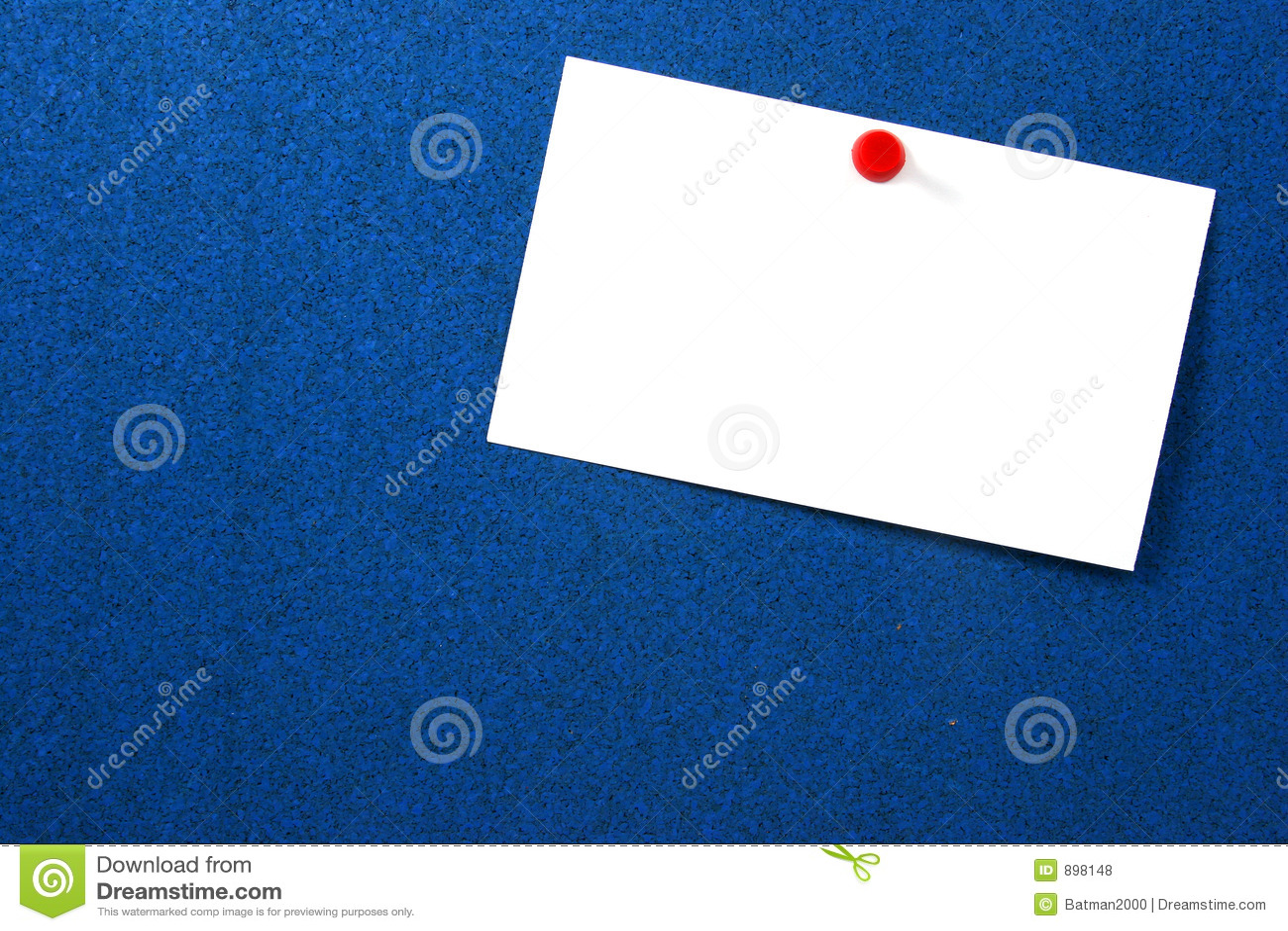 Pusty osaczający błękitnej karty