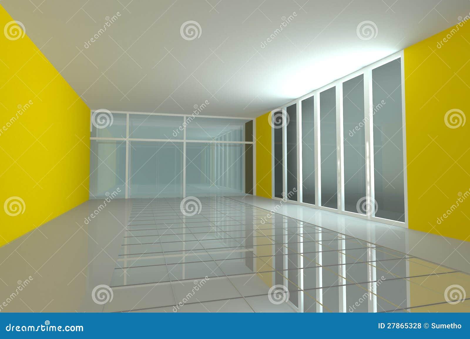 Pusty pokój dla wewnętrznej seminaryjnego pokoju koloru ściany