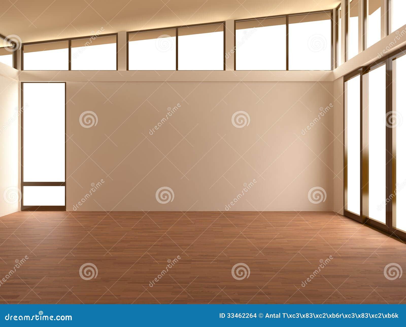 Pusty pokój w nowożytnym pokoju