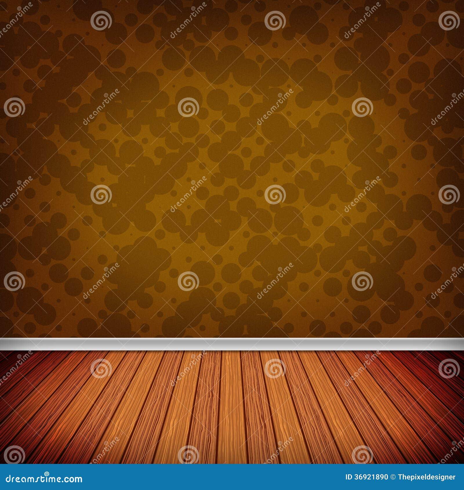 Pusty pokój, wnętrze z tapetą