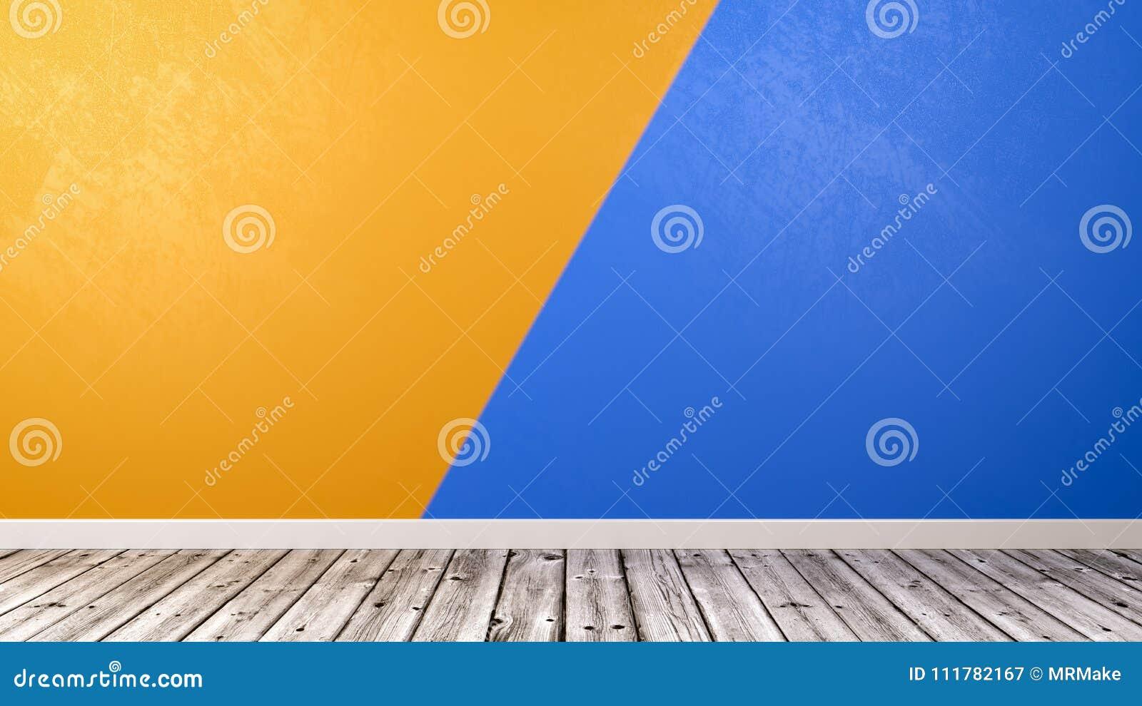Pusty pokój z Duotone ściany tłem