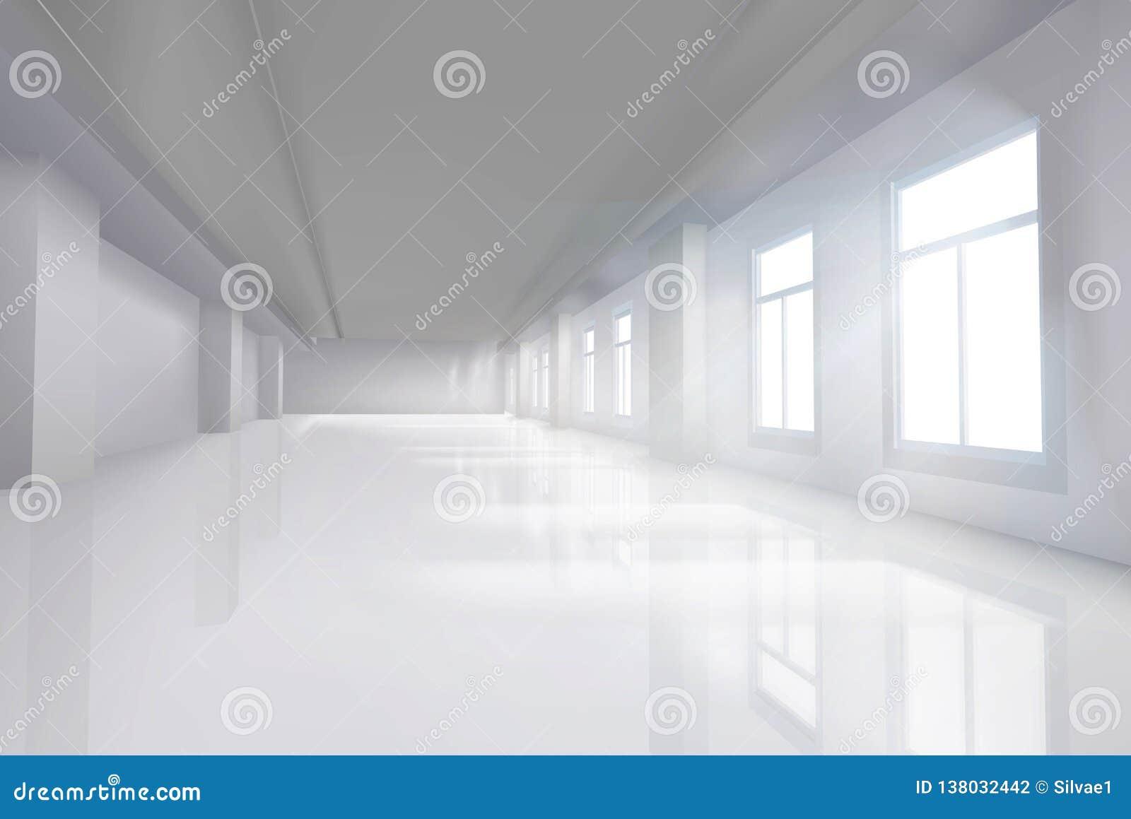 Pusty pokój z wielkim okno również zwrócić corel ilustracji wektora