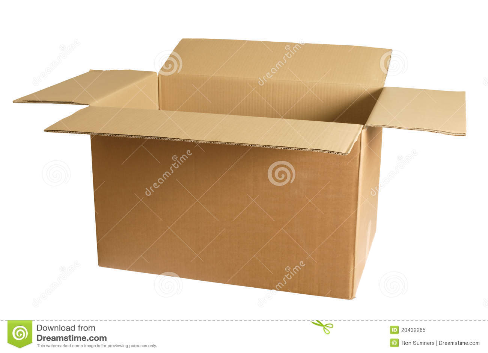 Pusty pudełkowaty karton