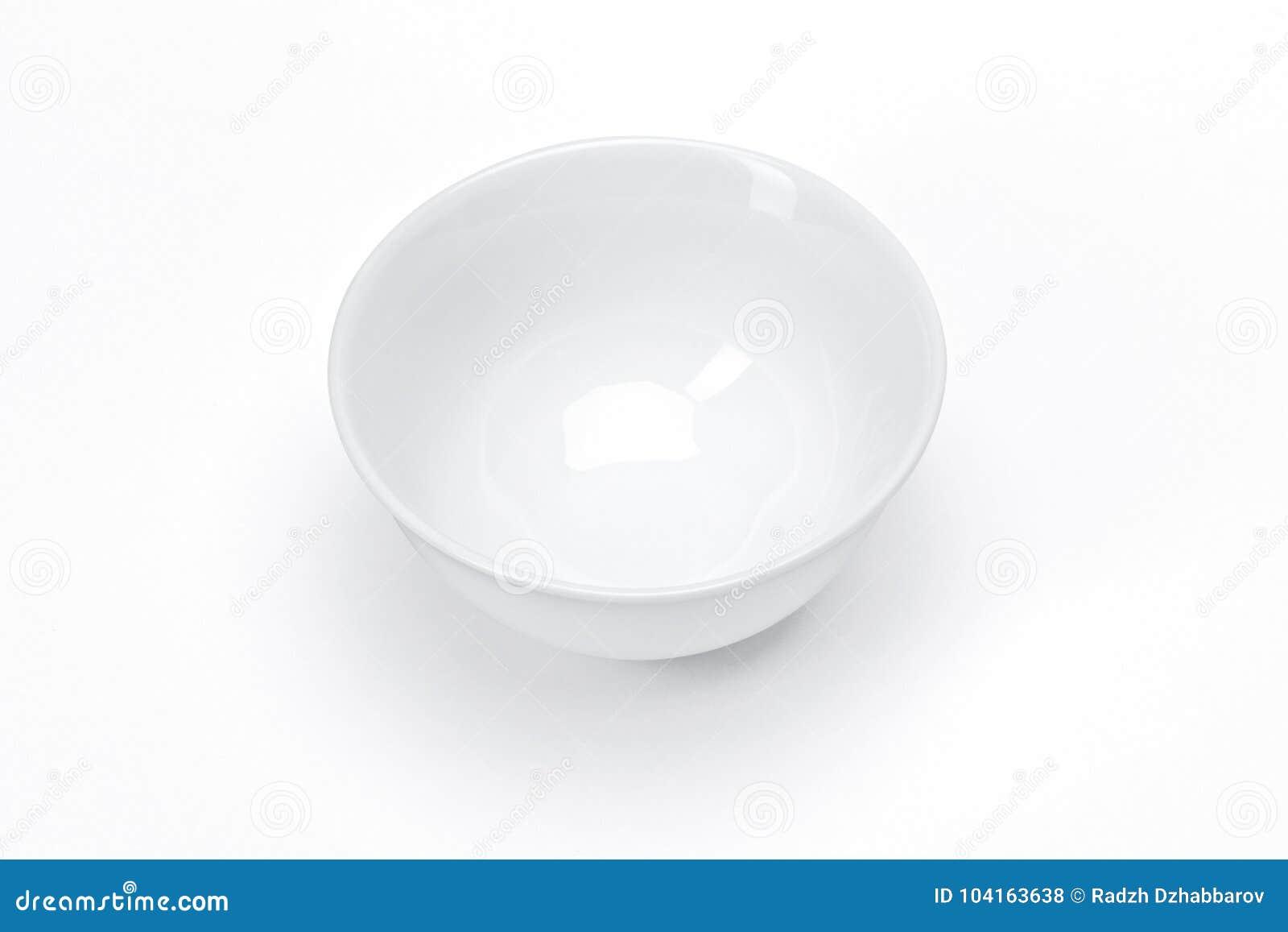 Pusty szablon porcelany tableware dla twój projekta, biały ceramiczny puchar dla zupnego białego tła