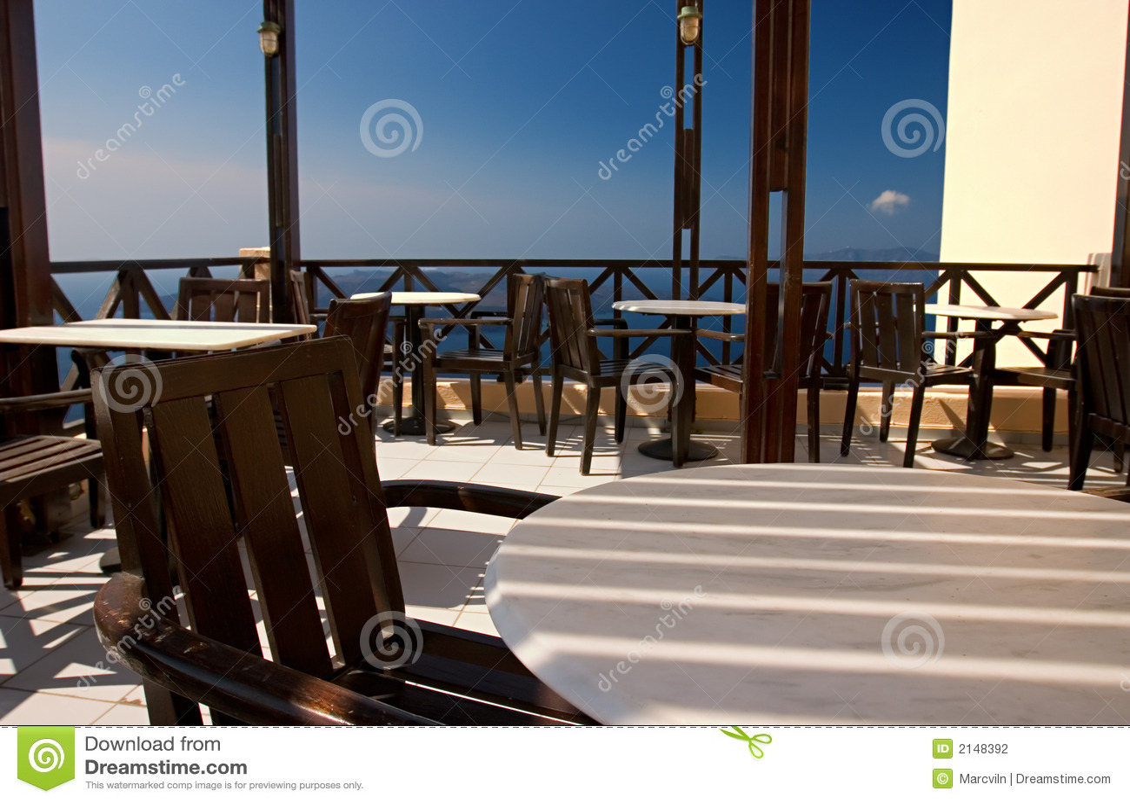 Pusty thira kawiarni Greece