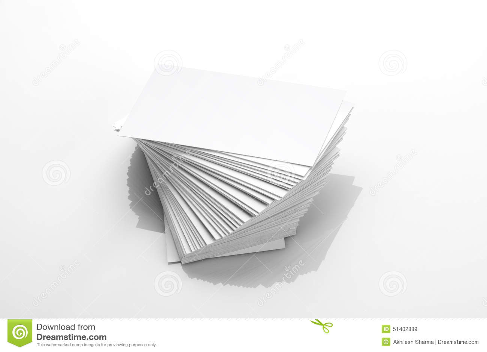 Pusty wizytówki Mockup na Białym Odbijającym tle