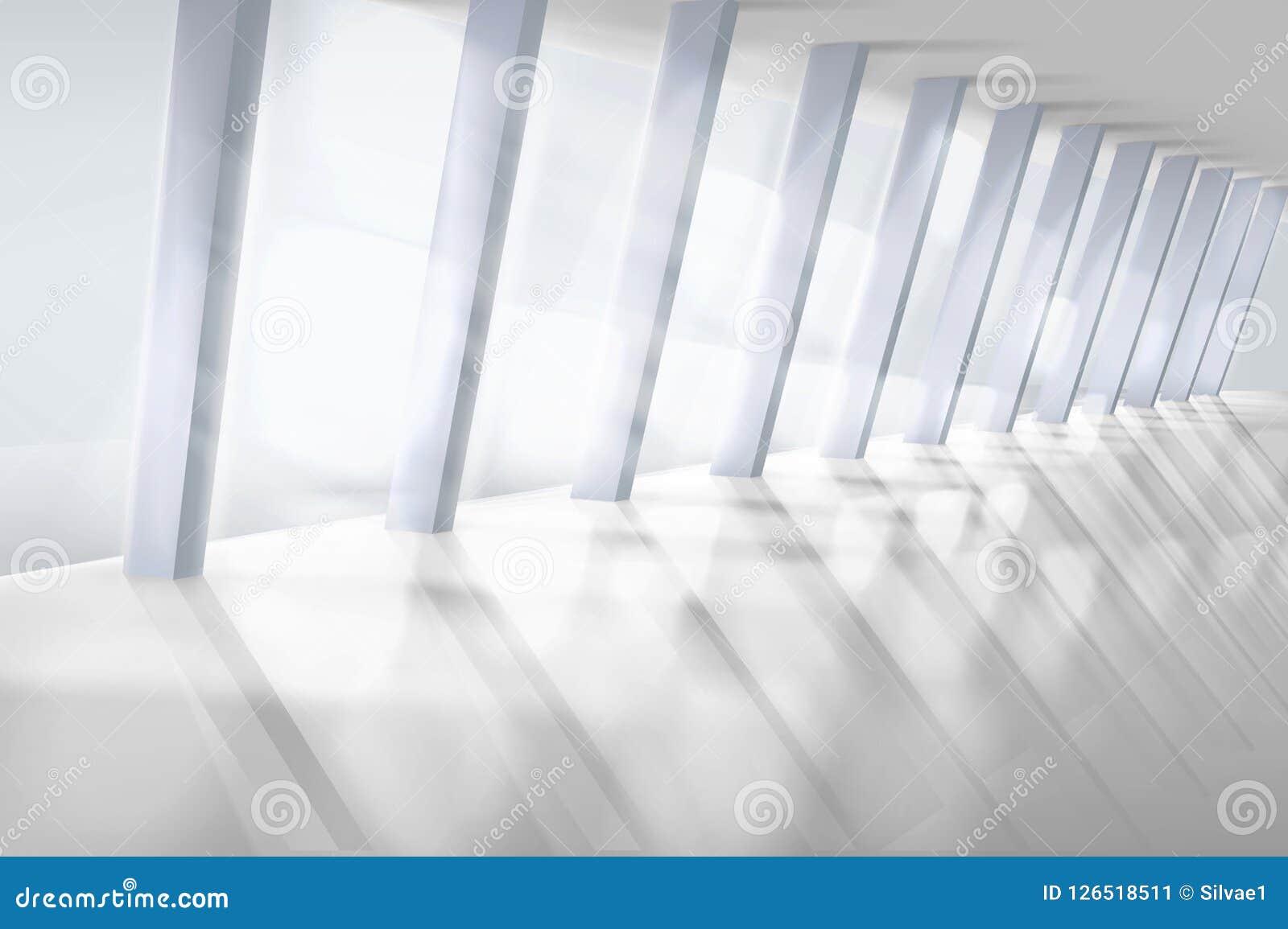 Pusty wnętrze z wielkim okno również zwrócić corel ilustracji wektora