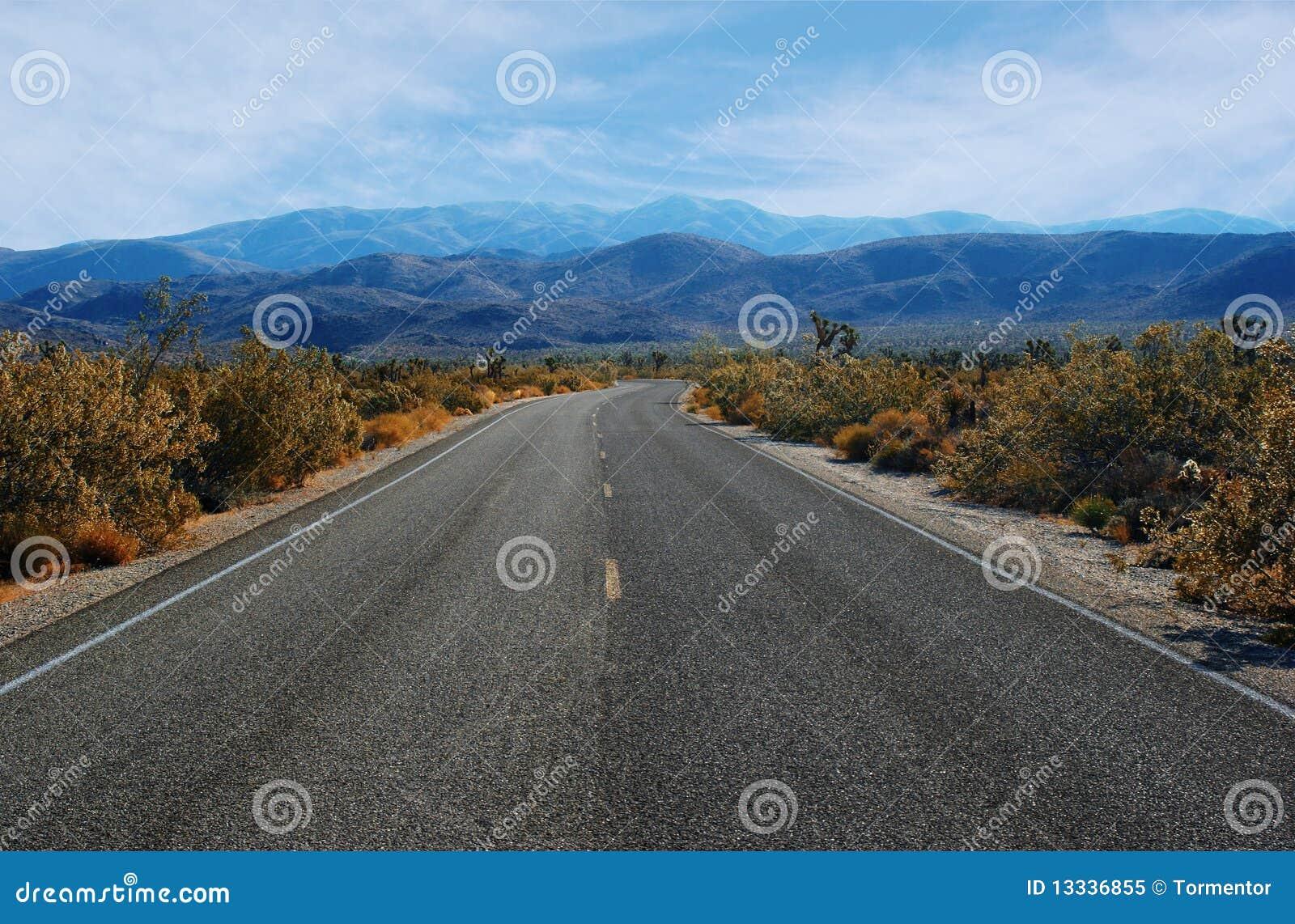 Pustyni cewienie pusty drogowy