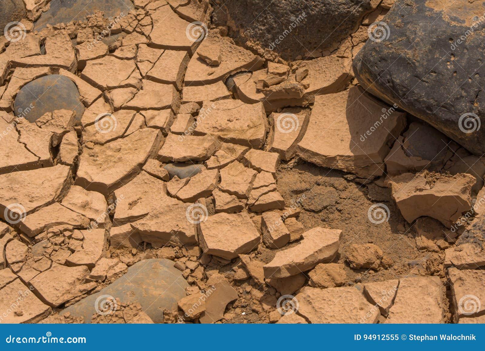 Pustynia kamienie i ziemia