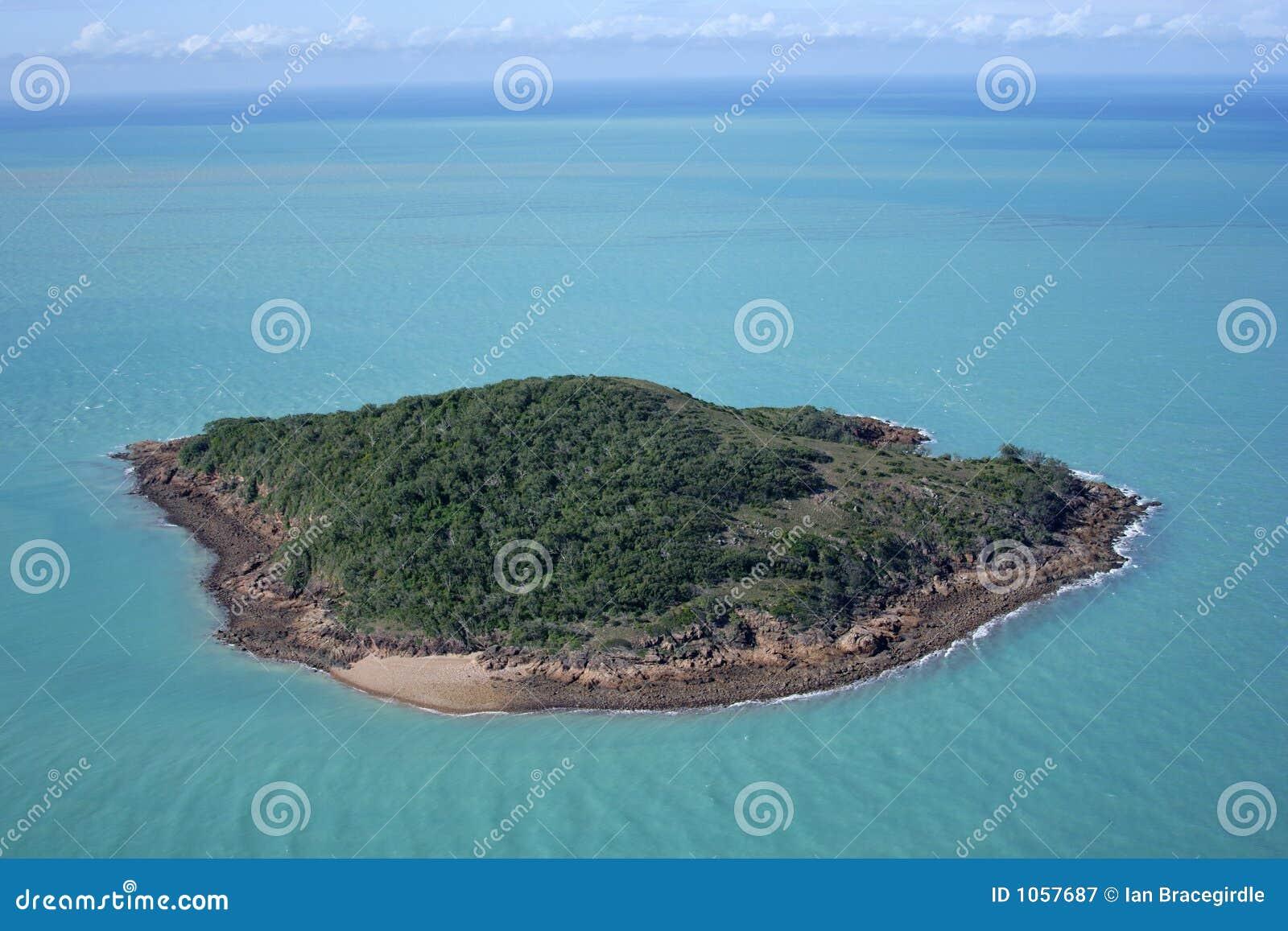 Pustynna wyspę.