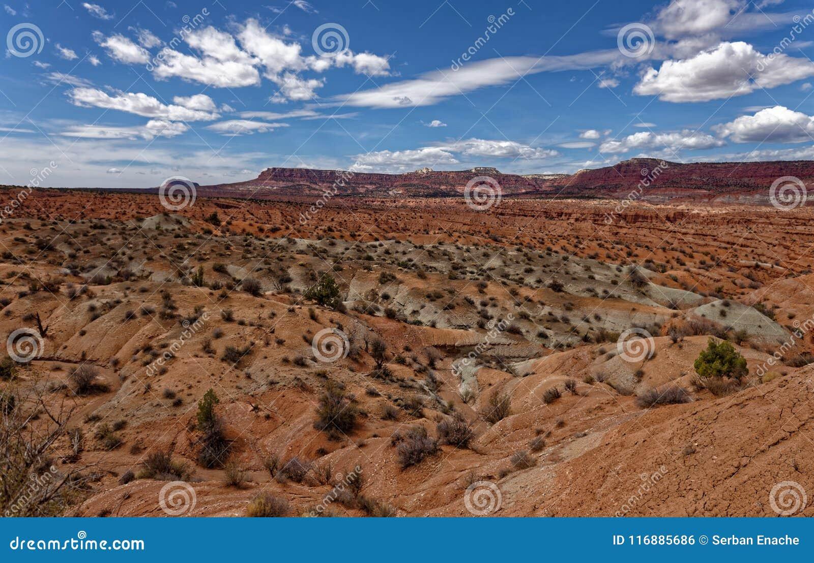 Pustynne równiny w Utah