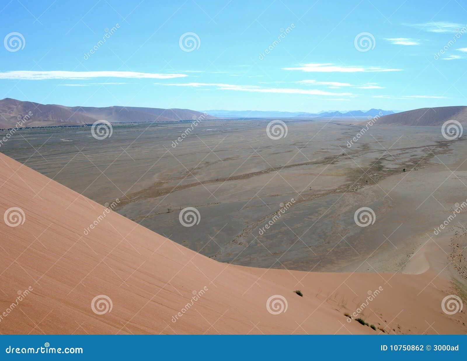 Pustynny diun Kalahari piasek