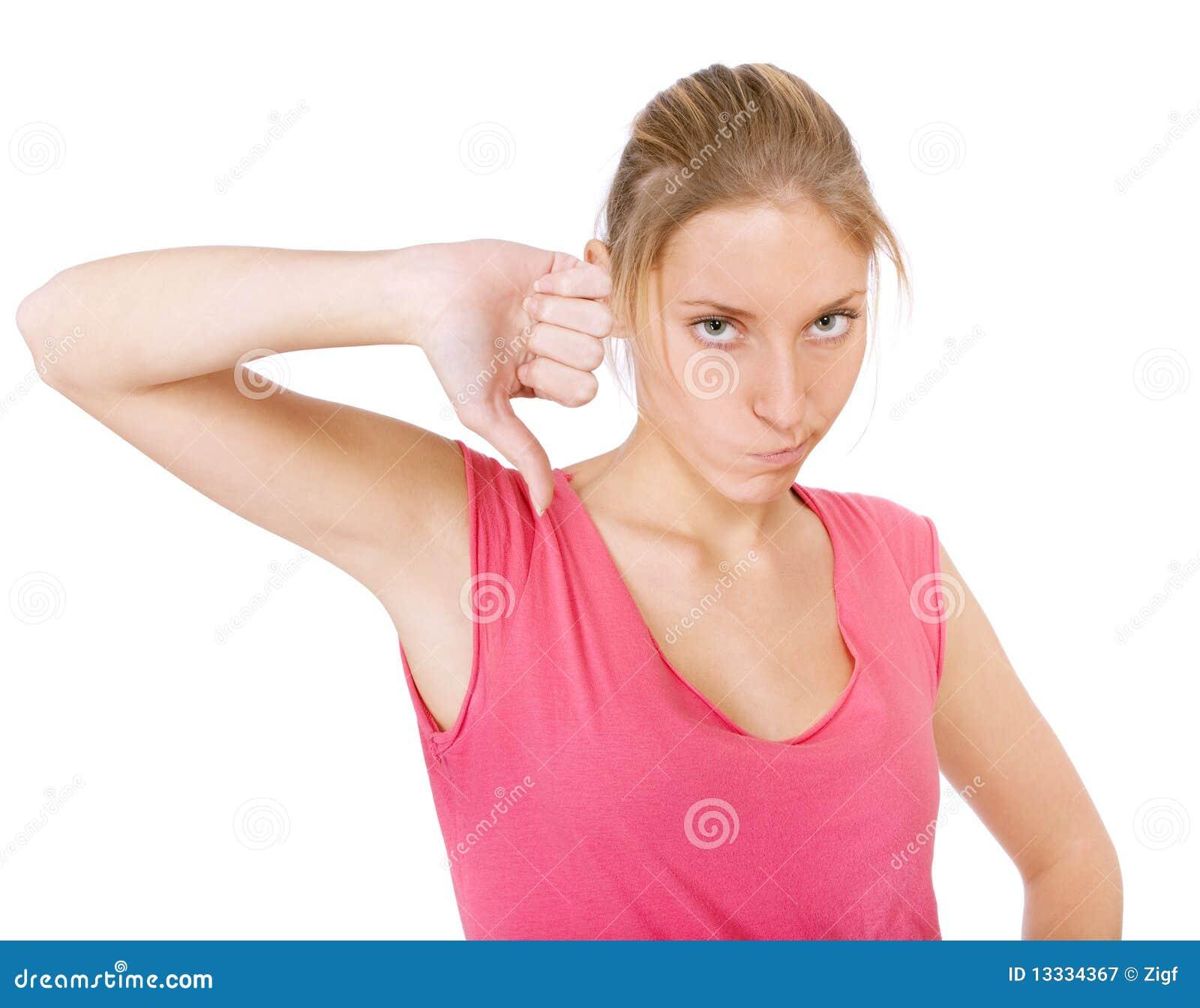 Puszka dosyć kciuka kobiety młode