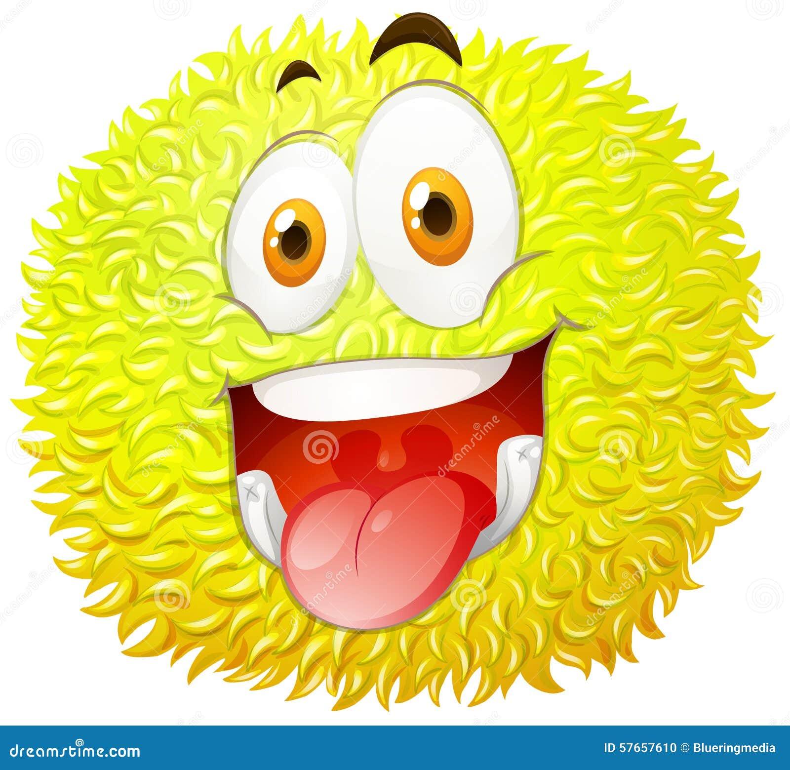 Puszysta piłka z szczęśliwą twarzą