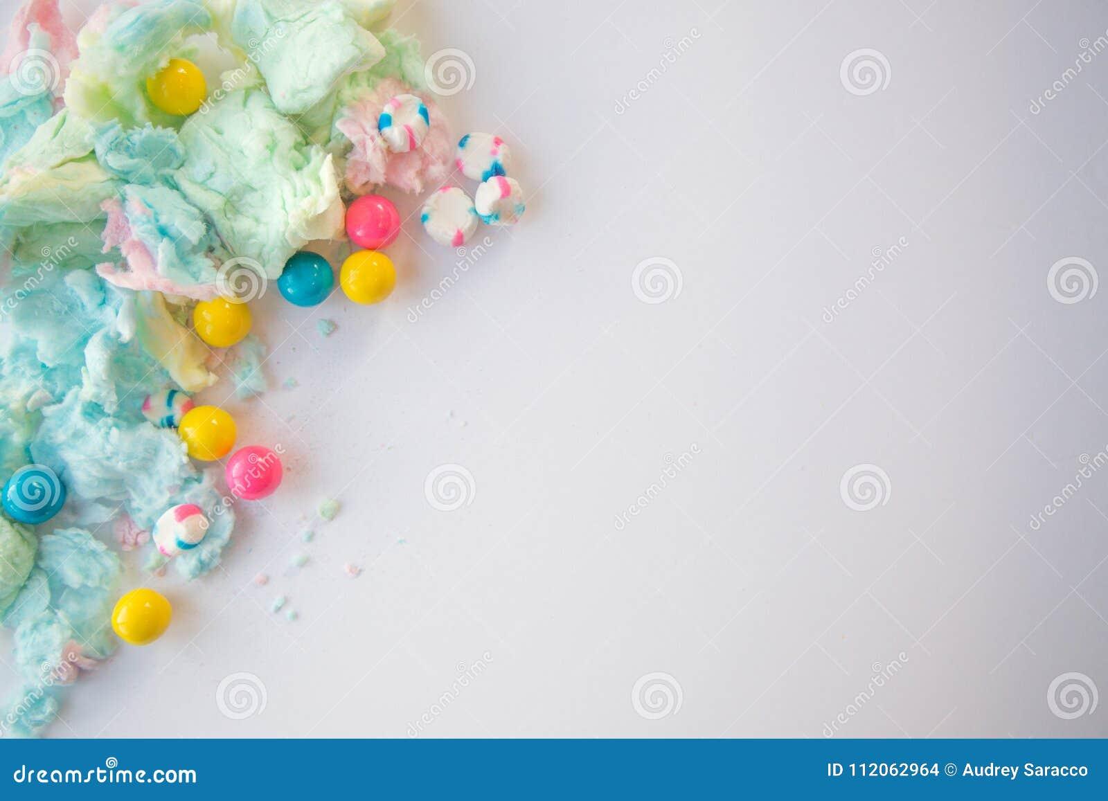 Puszysty bawełniany cukierek i gumballs
