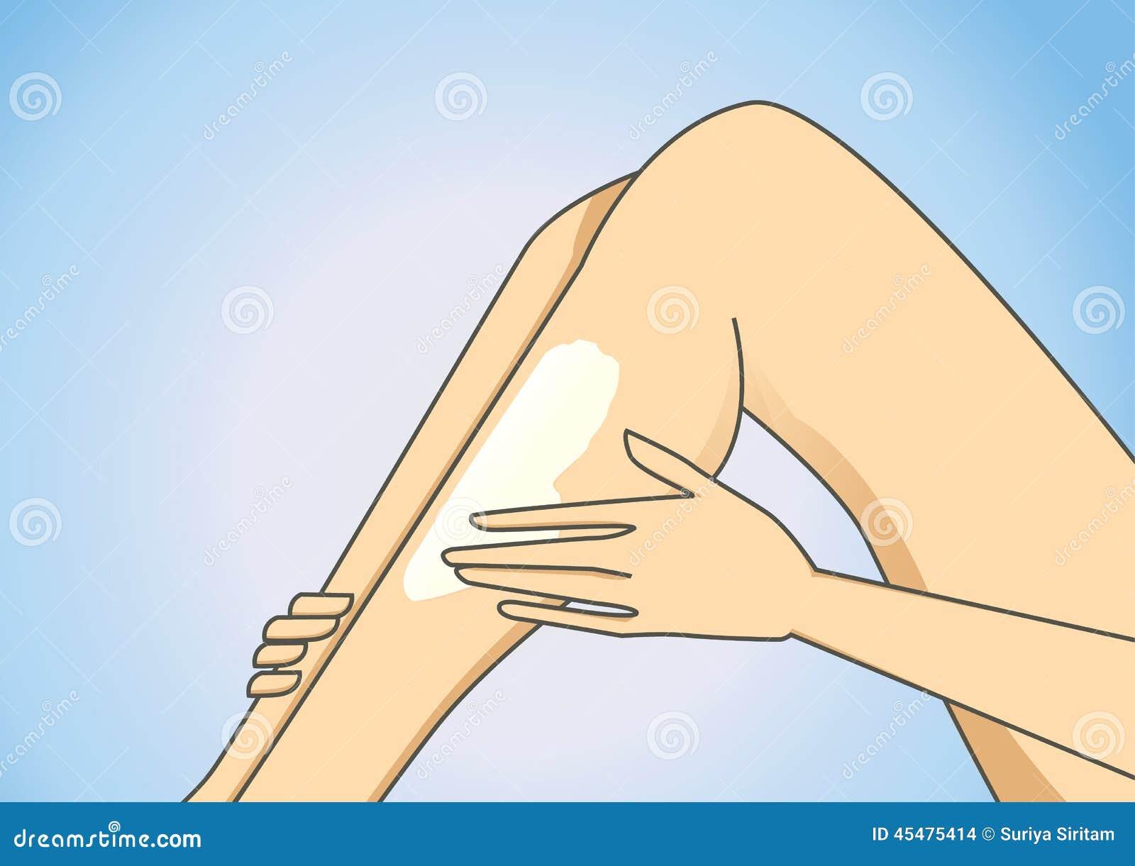 Put on leg lotion