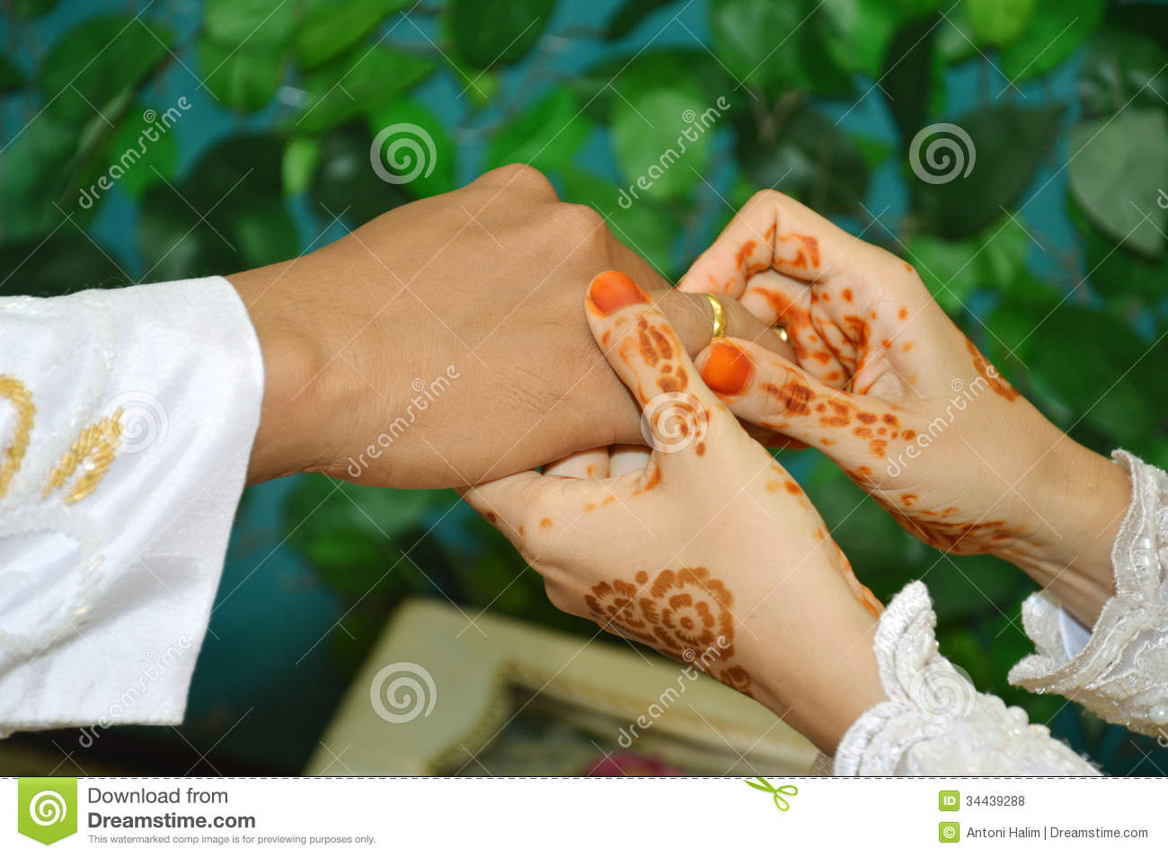 Put The Wedding Ring On The Finger Stock Photography Image