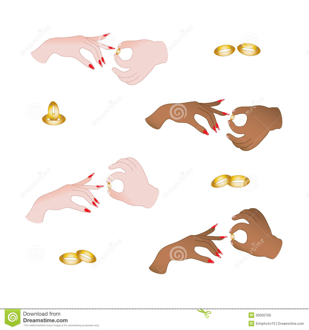 Put wedding ring on stock vector Illustration of girls 30500709
