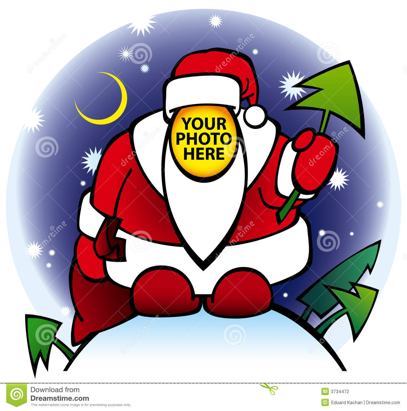 Vector illustration of Santa without face - put your photo here!!!