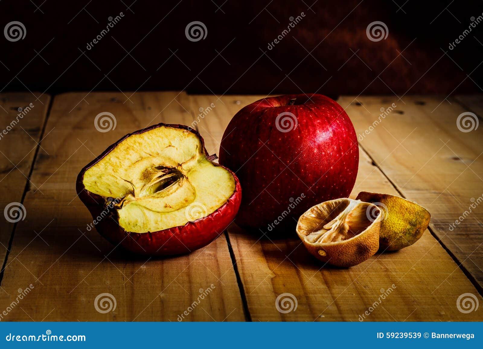 Putrefacción y frutas marchitadas