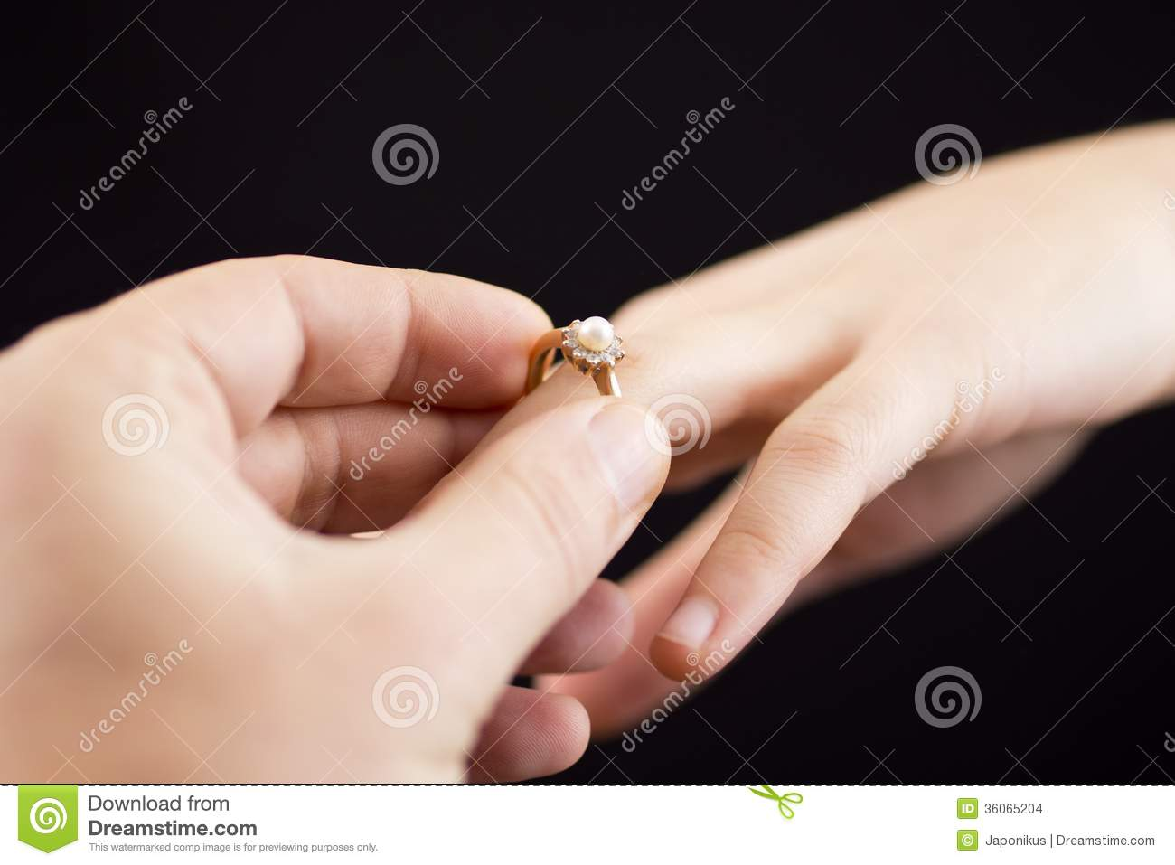 Putting A Ring On Girl\'s Hand Stock Photo - Image of hand ...
