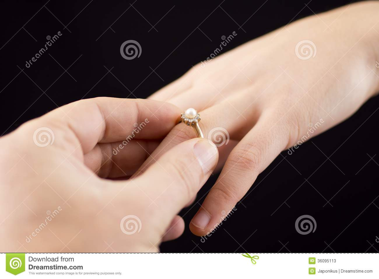 Putting A Ring On Girl\'s Hand Stock Image - Image of concept ...
