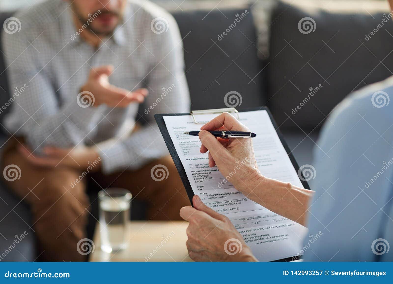 Putting tick in document