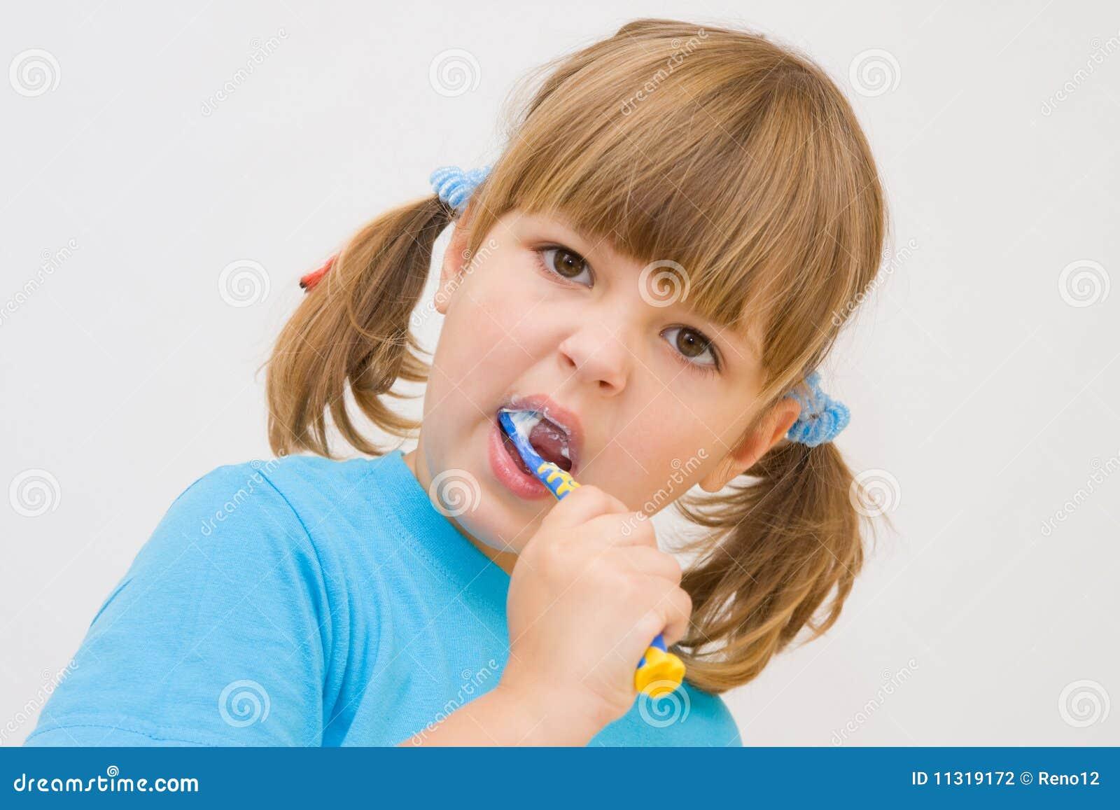 Putzen meiner Zähne