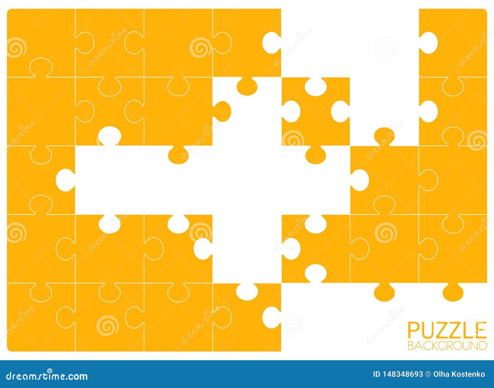 Puzzel 24 stukken, zonder sommige stukken