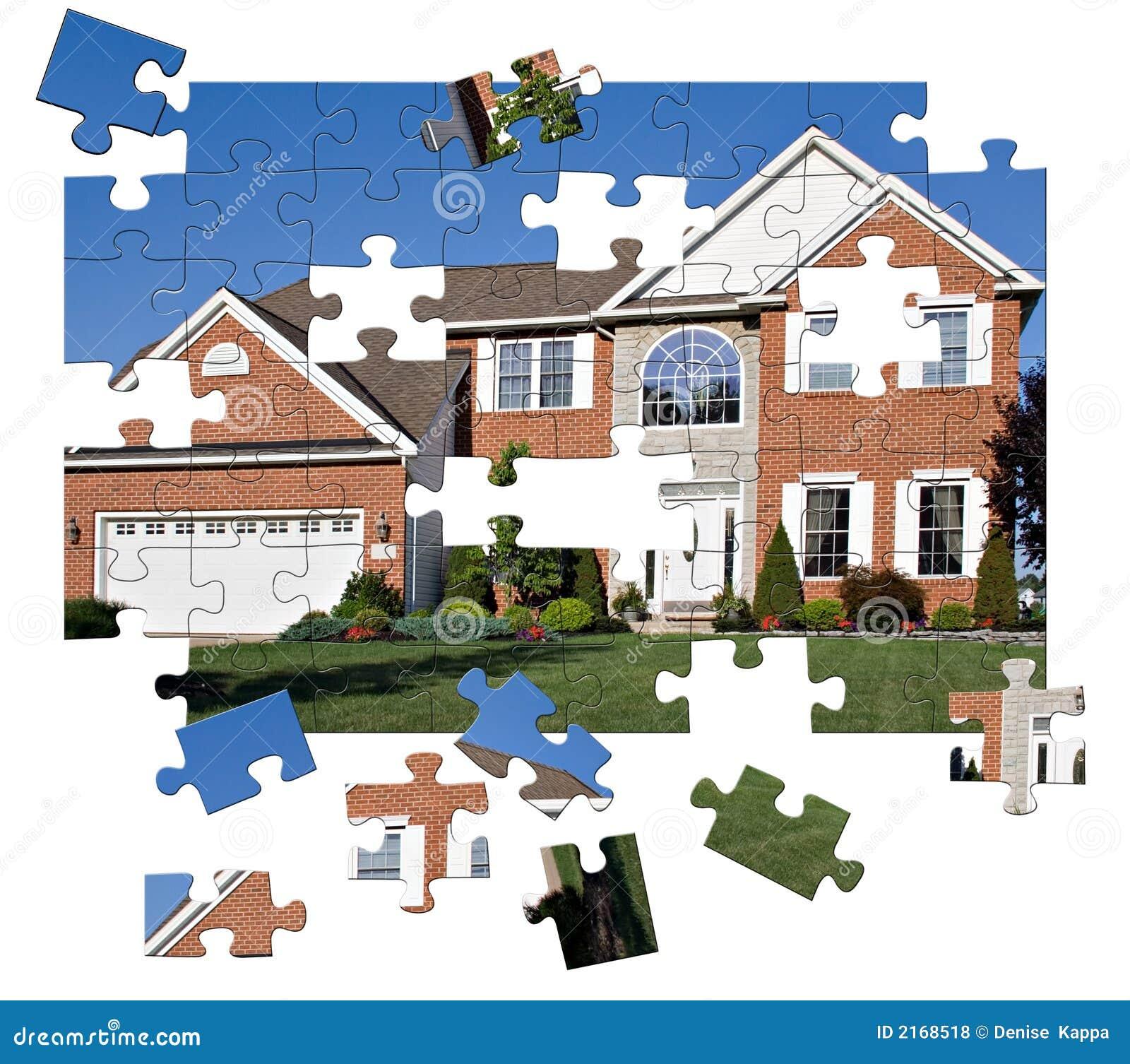 Puzzle à la maison de Surburban
