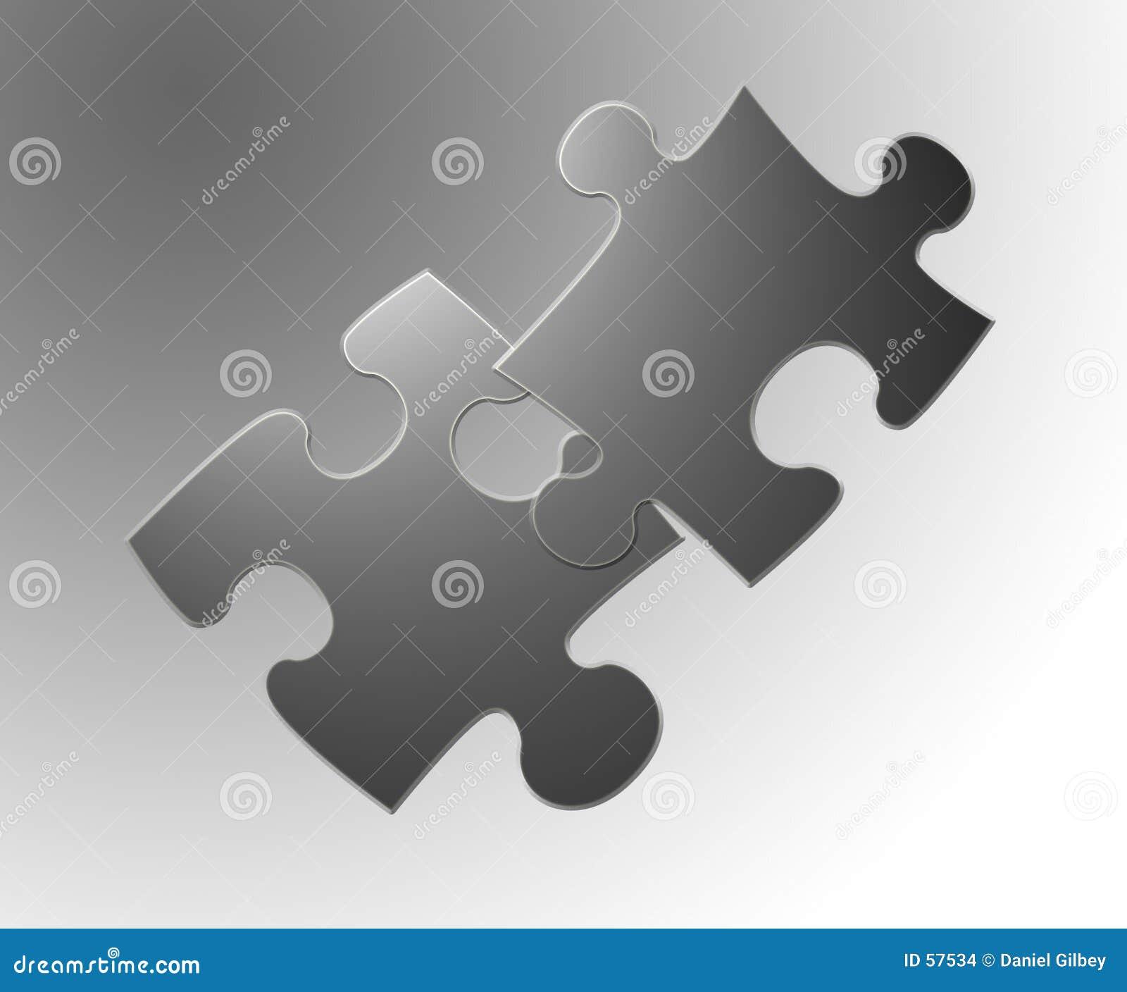 Download Puzzle 2 illustrazione di stock. Illustrazione di indizio - 57534