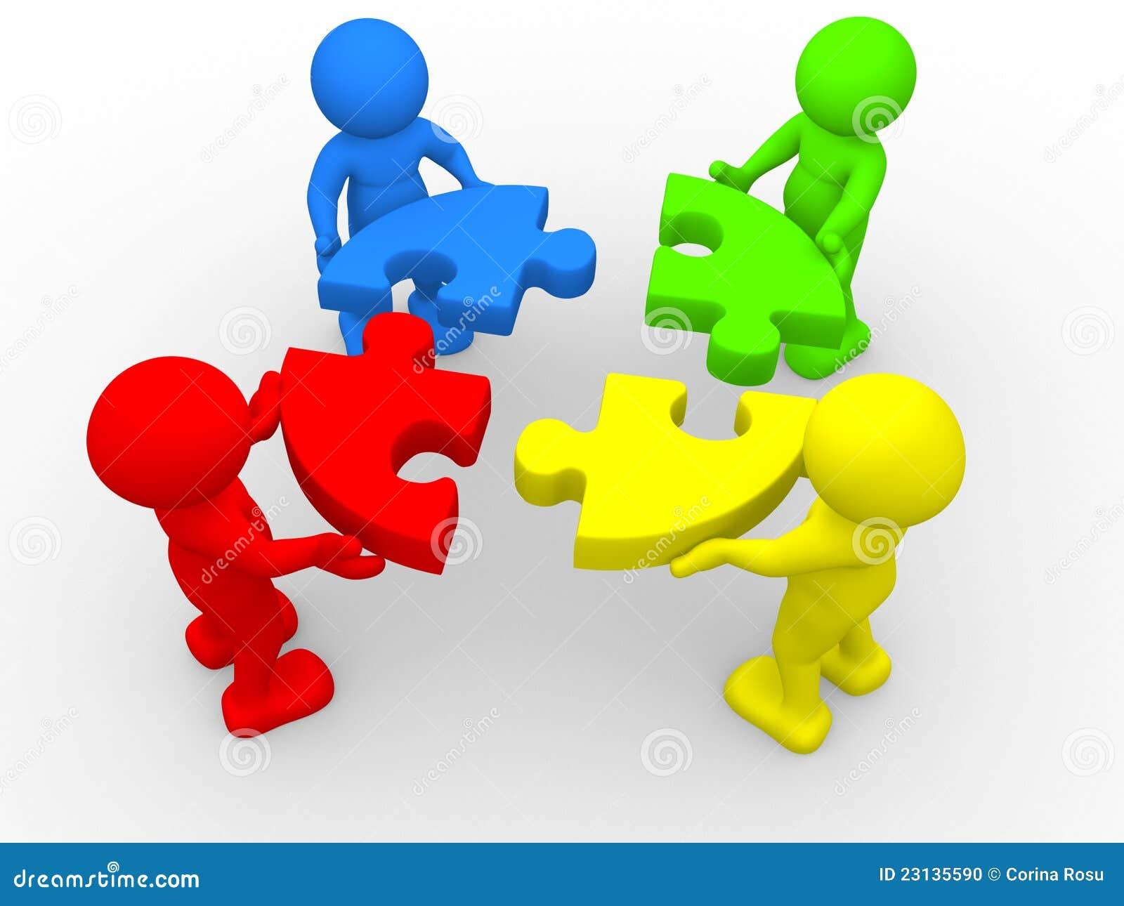 Puzzle Stock Illustration Illustration Of Jigsaw Action