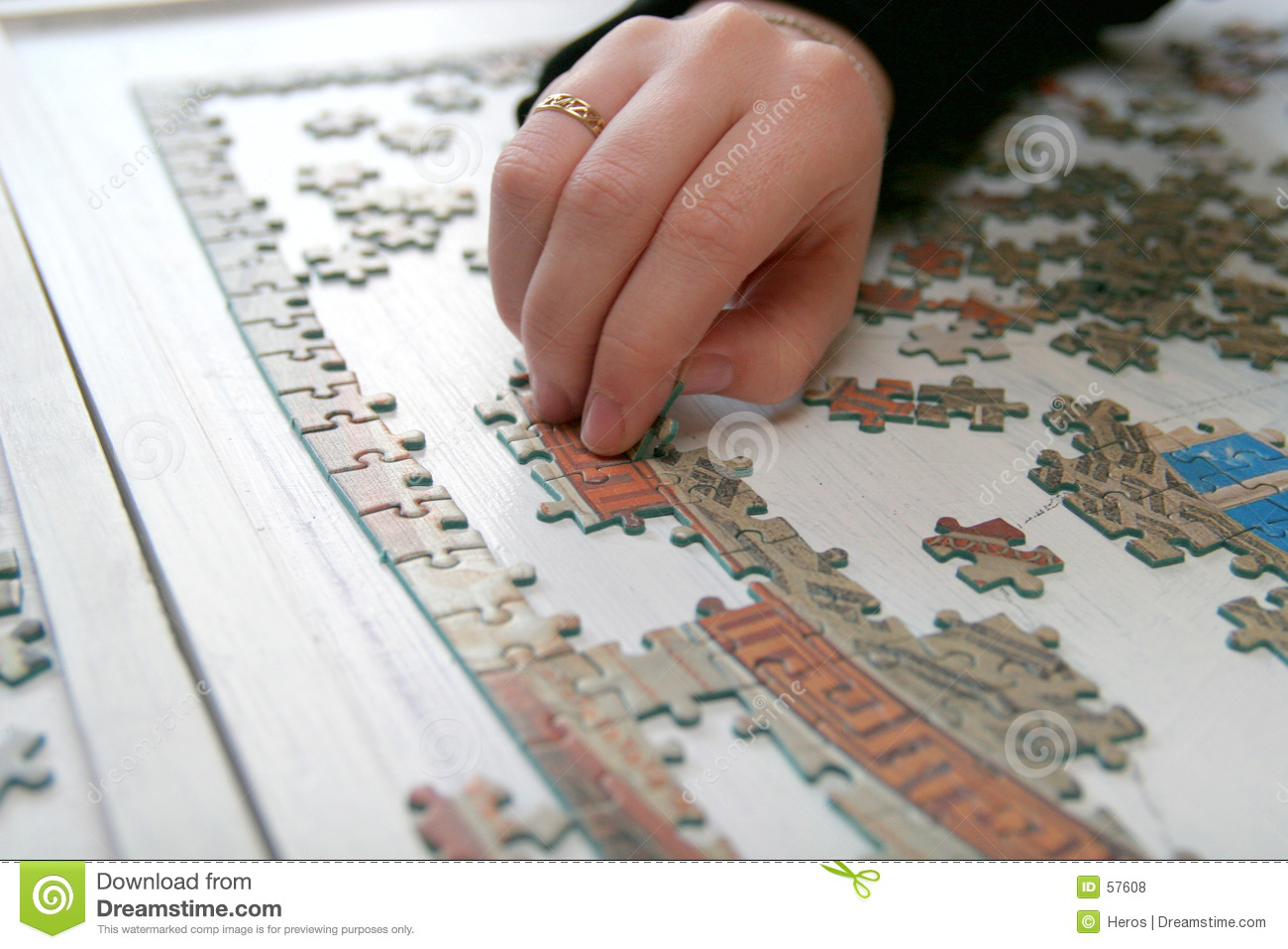 Download Puzzle photo stock. Image du boucle, puzzles, morceau, puzzle - 57608