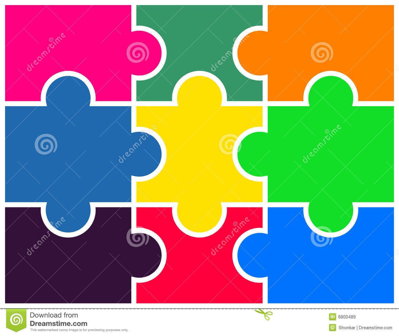 Puzzle Stock Vector Illustration Of Colored Organization