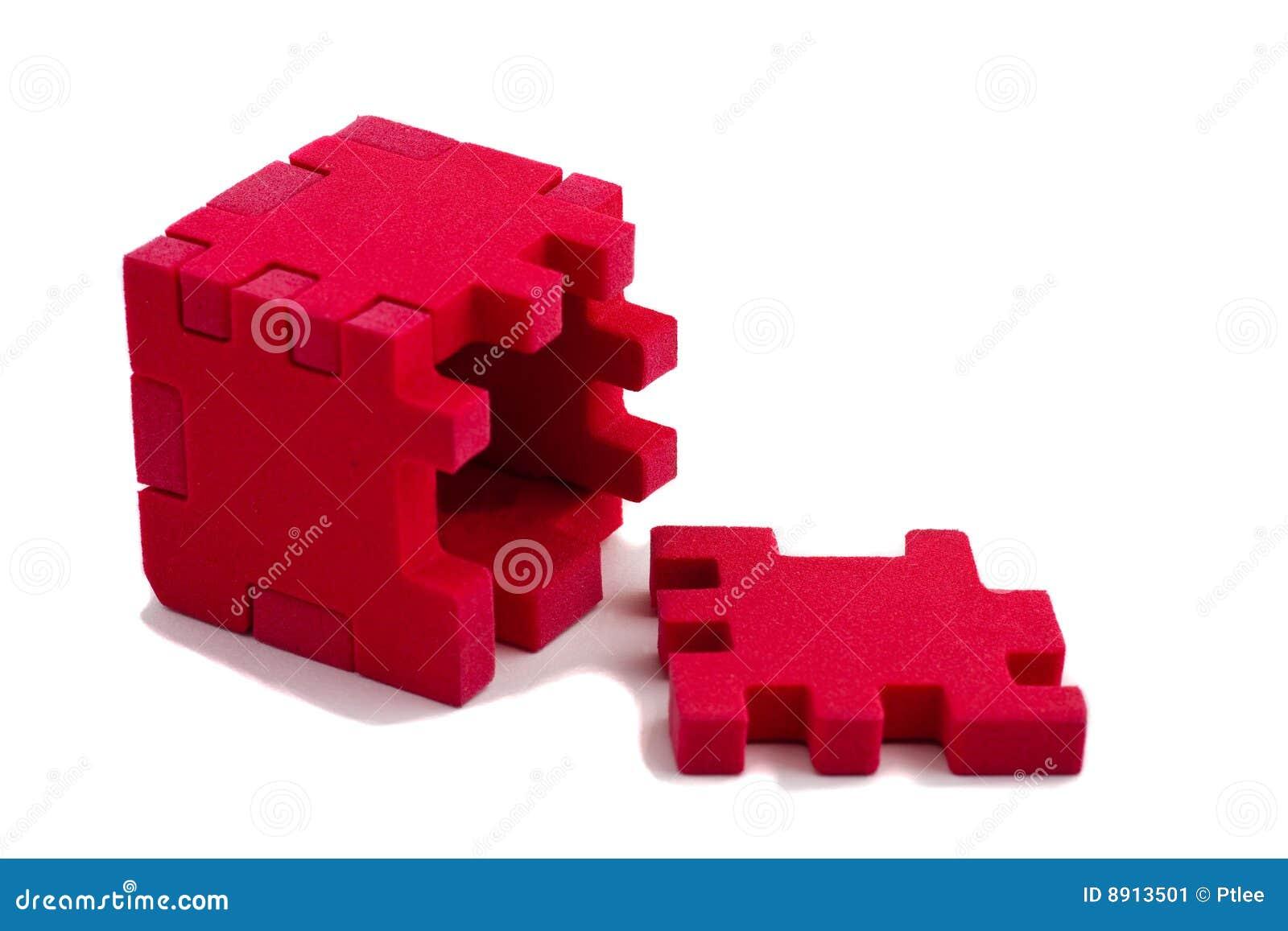 Puzzle aperto del cubo concetto del problema risolto for Piccole planimetrie a concetto aperto