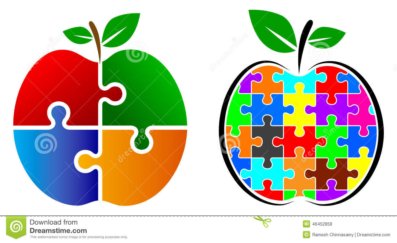 Puzzle Apple Logo Stock Vector - Image: 46452858